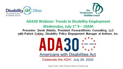 Webinar! – #ADA30 : Trends in Disability Employment; presented by ForwardWorks Consulting (Free HRCI Credit)